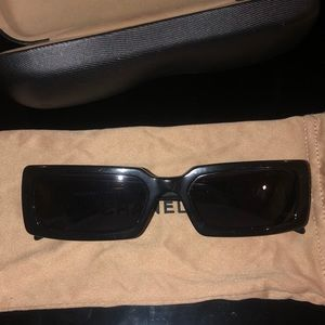AUTHENTIC BLACK 90's VINTAGE CHANEL SUNGLASSES